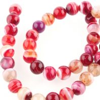 15 Inch Gemstone Red Agate 10mm Round Beads